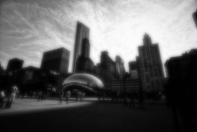 Photograph - Chicago Illinois Dreamy Edit Skyline by David Haskett