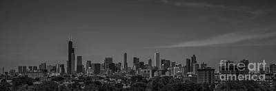 Photograph - Chicago Illinois Skyline Black And White by David Haskett