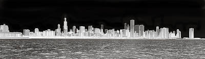 Chicago In Black And White Original by Patrick  Warneka