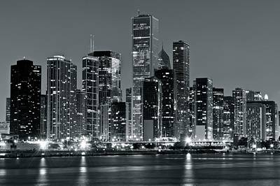 B Drake Photograph - Chicago In Charcoal Gray by Frozen in Time Fine Art Photography