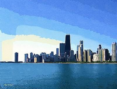 Hancock Building Mixed Media - Chicago In Goache Paint by Skyler Tipton