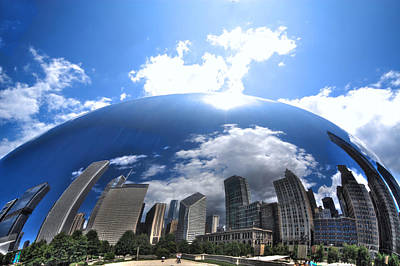 Photograph - Chicago In The Bean by Coby Cooper