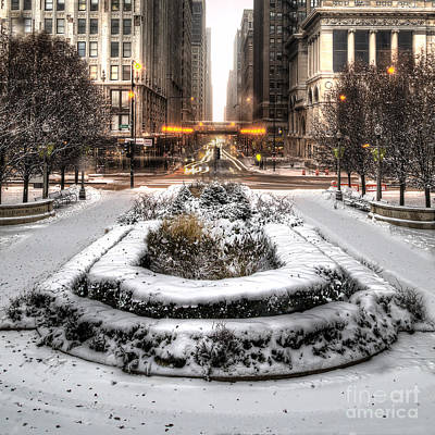 Millennium Park Photograph - Chicago In Winter by Twenty Two North Photography