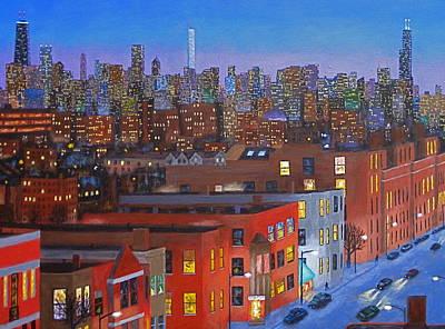 Hancock Building Painting - Chicago Is Neighborhoods by J Loren Reedy