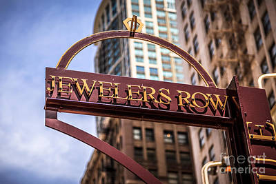 City Scenes Royalty-Free and Rights-Managed Images - Chicago Jewelers Row Sign  by Paul Velgos
