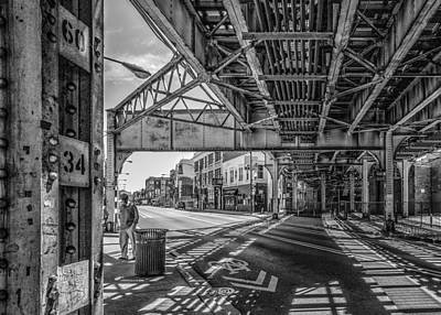 Photograph - Chicago L At Clark Street by Judith Barath