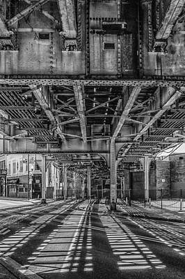 Photograph - Chicago L Track At Clark Street by Judith Barath