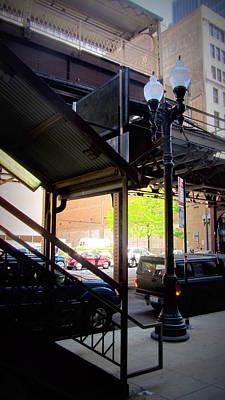 Photograph - Chicago L Tracks Platform by Anita Burgermeister