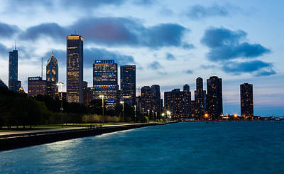 Photograph - Chicago Lake Front At Blue Hour by Semmick Photo