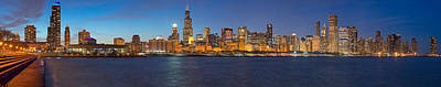 Chicago Photograph - Chicago Lakefront Evening 1 by Kevin Eatinger