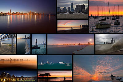 Chicago Lakefront Photo Collage Art Print