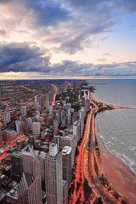 Photograph - Chicago Lakefront by Songquan Deng