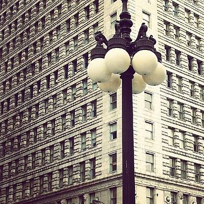 Pattern Wall Art - Photograph - Chicago Lamp Post by Jill Tuinier
