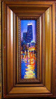 Painting - Chicago by Les Leffingwell