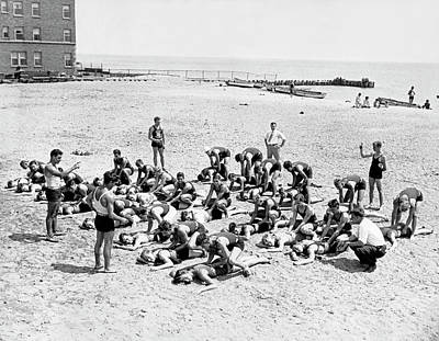 Photograph - Chicago Life Guard School by Underwood Archives