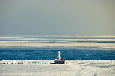 Photograph - Chicago Lighthouse In Winter by Steven Richman