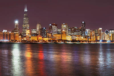 Photograph - Chicago Lights 2 by Leda Robertson