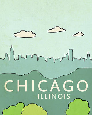 Chicago Painting - Chicago by Lisa Barbero