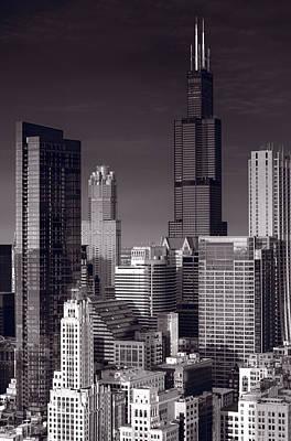 Chicago Loop Towers Bw Original by Steve Gadomski
