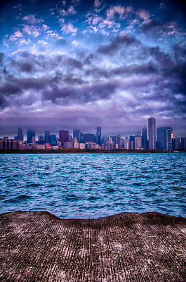 Chicago Lost In The Clouds Art Print by Michael  Bennett
