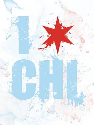 Stencil Mixed Media - Chicago Love Too by Mike Maher