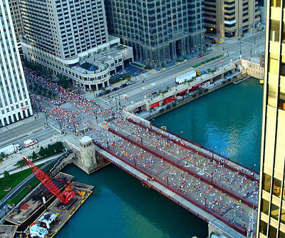 Chicago Marathon 2008 Art Print