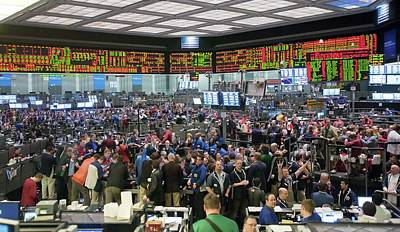 Stock Male Photograph - Chicago Mercantile Exchange by Jim West
