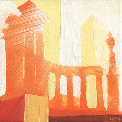 Chicago Landmark Painting - Chicago Millenium Monument 19 Of 100 by W Michael Meyer
