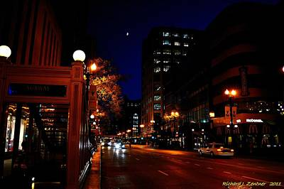 Photograph - Chicago Moon by Richard Zentner
