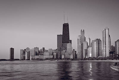 Chicago Morning Bw Original by Steve Gadomski