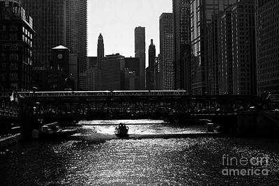 Frank J Casella Royalty-Free and Rights-Managed Images - Chicago Morning Commute - Monochrome by Frank J Casella
