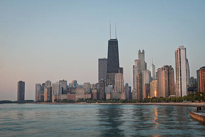 Lake Michigan Photograph - Chicago Morning by Steve Gadomski