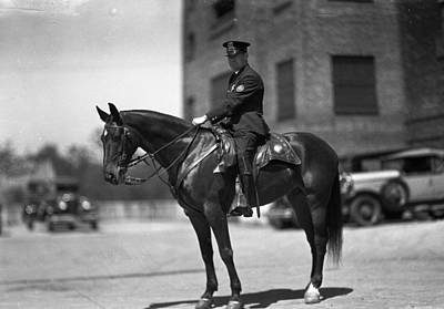 Police Photograph - Chicago Mounted Police by Retro Images Archive