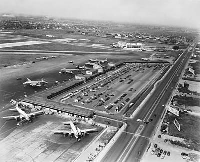 Chicago Municipal Airport Art Print by Underwood Archives