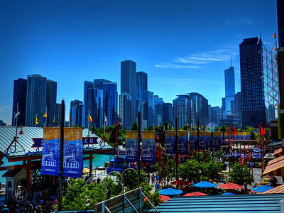 Photograph - Chicago - Navy Pier 001 by Lance Vaughn