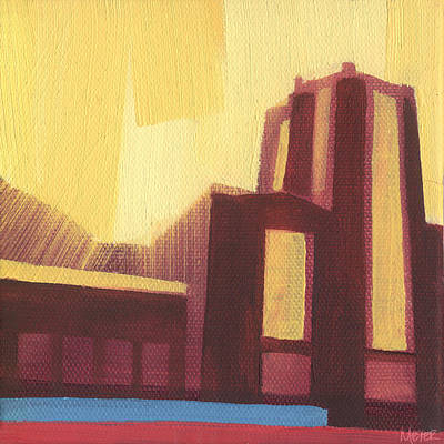 Chicago Landmark Painting - Chicago Navy Pier 87 Of 100 by W Michael Meyer