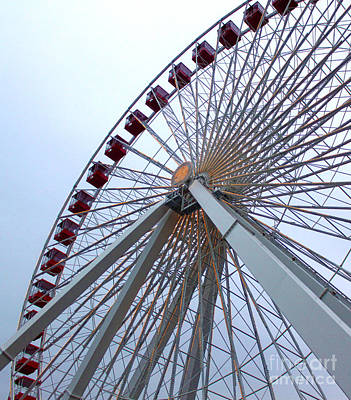 Photograph - Chicago Navy Pier Ferris Wheel by Gregory Dyer
