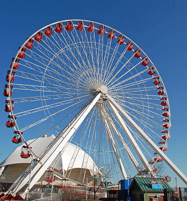 Photograph - Chicago Navy Pier Ferris Wheel by Richard Bryce and Family