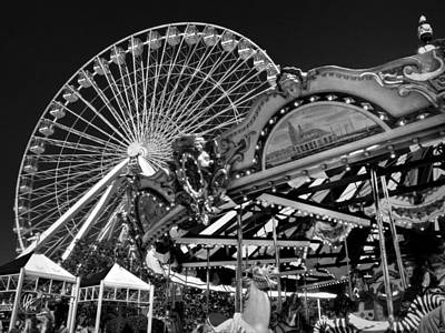Chicago - Navy Pier - Pier Park 001 Art Print by Lance Vaughn