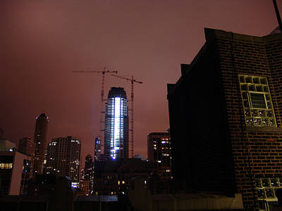 Photograph - Chicago Night From Skyscrapers Roof by Mieczyslaw Rudek