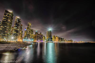 Chicago Nightscape Art Print by Raf Winterpacht