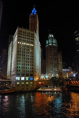 Photograph - Chicago Nocturne by Steven Richman