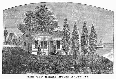 1833 Painting - Chicago Old House, 1833 by Granger