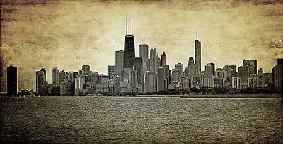 Chicago On Canvas Art Print