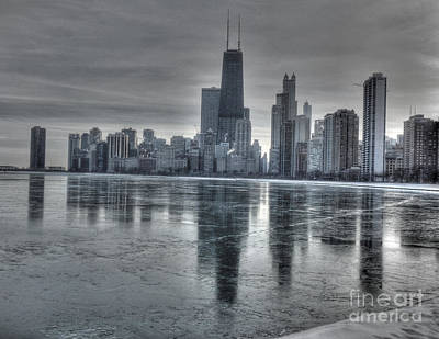 Chicago On Thin Ice Print by David Bearden