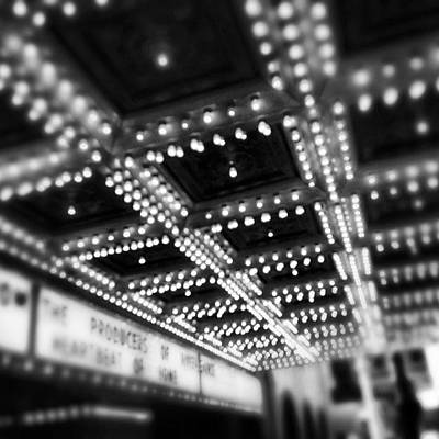 White Photograph - Chicago Oriental Theatre Lights by Paul Velgos