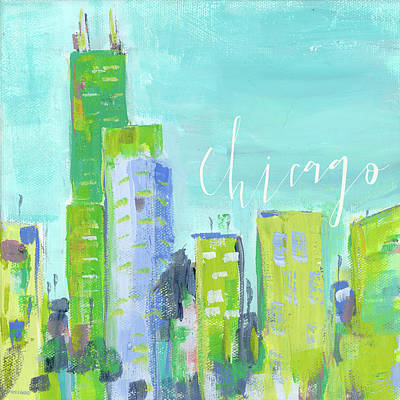 Sears Tower Painting - Chicago by Pamela J