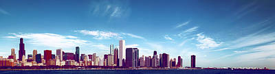 Adler Wall Art - Photograph - Chicago Panorama 1 by Michael Guirguis
