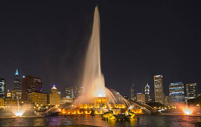 Going Green - Chicago Park Fountain  by Patrick  Warneka