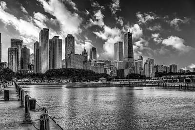 Photograph - Chicago Pier Skyline by Erwin Spinner
